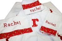 Red Floral Hooded Towel