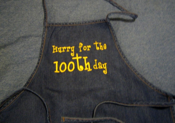 100th Day Apron