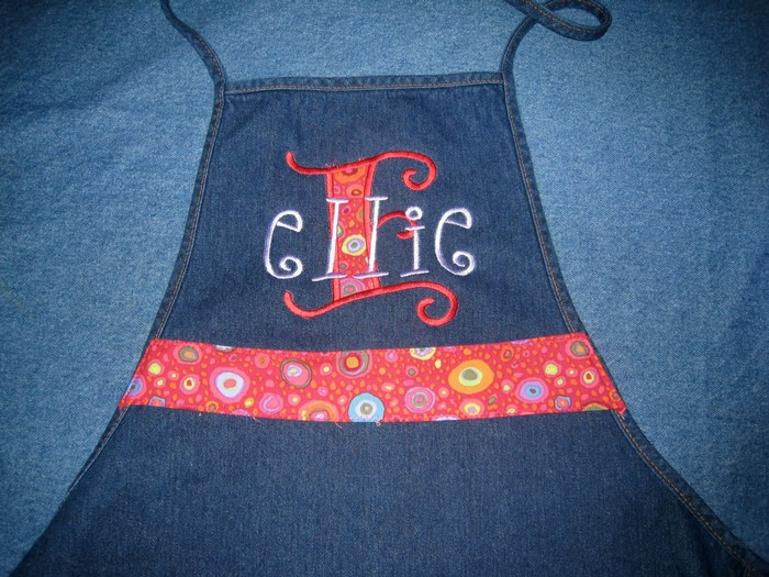 Pretty Fabric Initial Apron