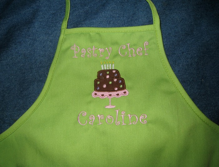 Pastry Chef Birthday Cake Apron