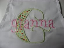 "The ""Gianna"" Monogrammed Apron"