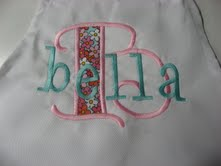 "The ""Bella"" Monogrammed Apron"