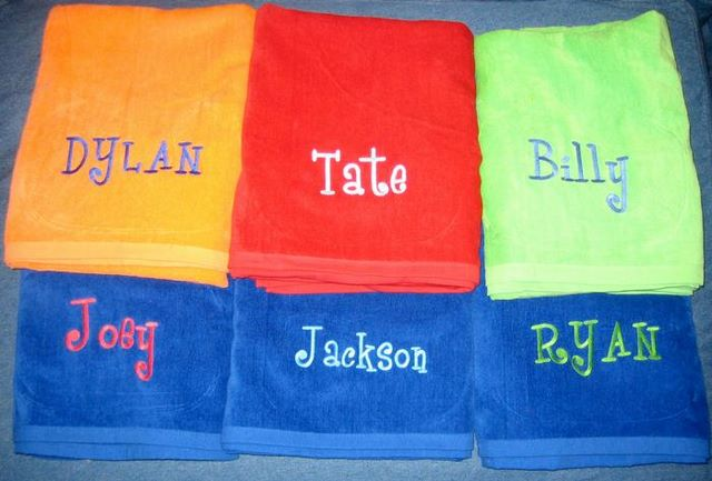 Custom Embroidered Beach Towels