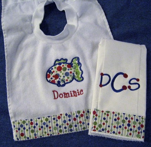 Retro Dots Fish Bib