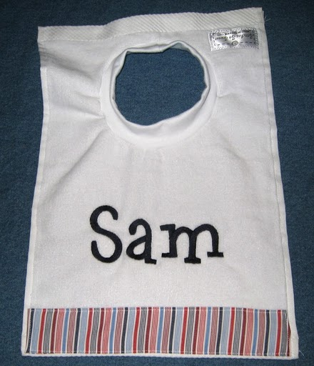 Classic Nautical Stripe Bib
