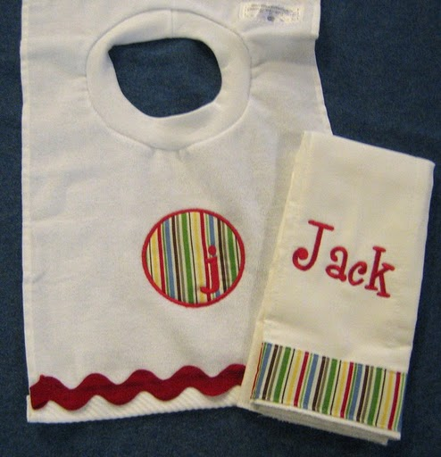 Ric Rac Applique Bib