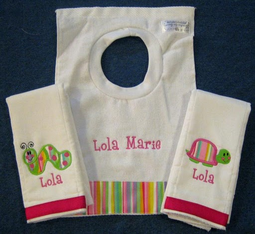 Bright Girl Striped Bib