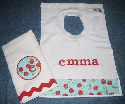 Modern Cherries Bib