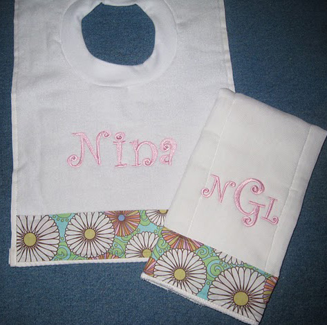 Big Summer Flower Bib