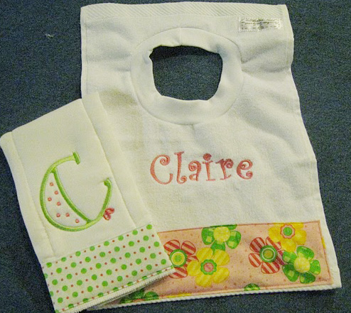 Citrus Summer Flowers Bib