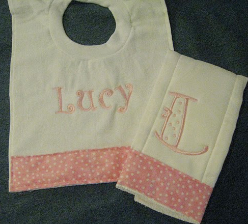 Baby Pink Sweet Little Dots Bib