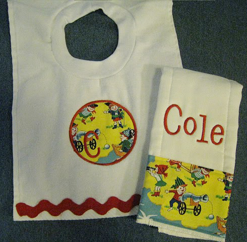 Playful Pirates Bib