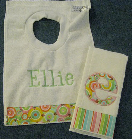 Summer Circles & Flowers Bib