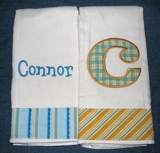 Blue & Yellow Stripes Burp Cloth