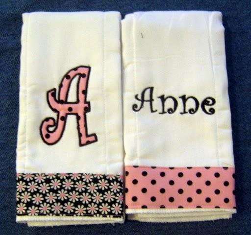 Pink & Black Daisy and Dot Burp Cloth