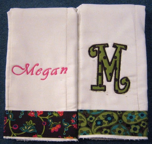 Earthy Floral & Paisley Burp Cloth