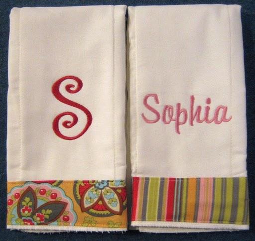 Bright Summer Floral & Stripes Burp Cloth
