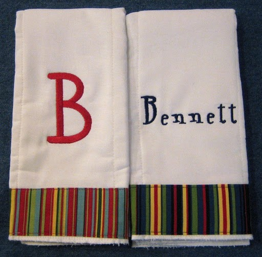 Jewel Striped Burp Cloth