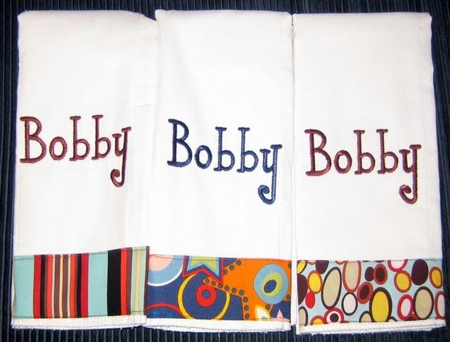 Retro Stripes, Stars & Stripes Burp Cloth