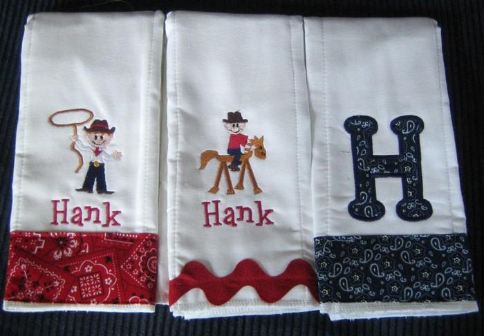 Little Cowboy Bandanna Burp Cloth