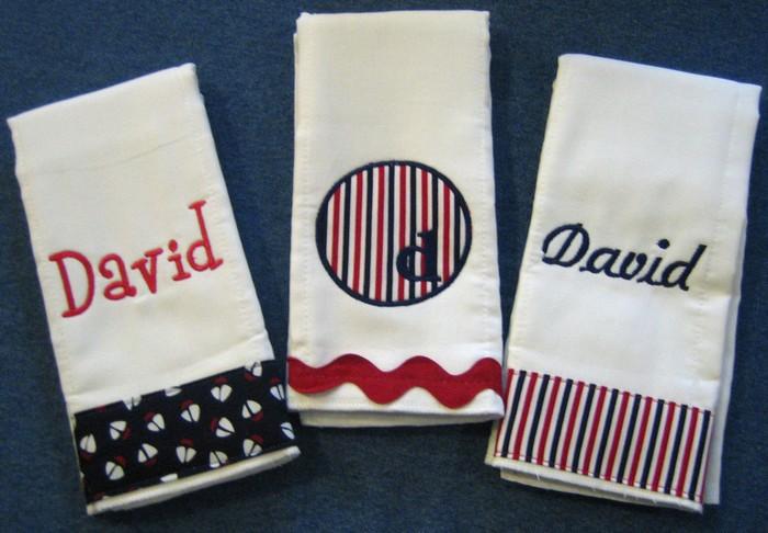 Sailboat, Nautical Stripes or Ric Rac Burp Cloth