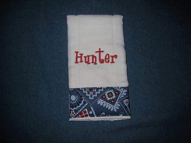 Red, White & Blue Bandanna Print Burp Cloth