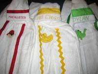 Pirate, Duckie & Dinosaur Hooded Towel