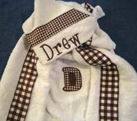 Chocolate Brown Gingham Hooded Towel