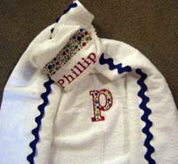 Blue Primary Polka Dot Hooded Towel