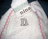 Tiny Pastel Polka Dot Hooded Towel