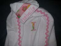 Pretty Pink Flowers Hooded Towel