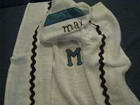 Modern Blue & Black Hooded Towel