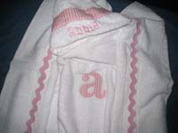 Baby Pink Striped Hooded Towel