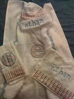 Modern Stripes & Polka Dots Hooded Towel