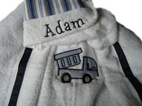 Blue Dump Truck Hooded Towel