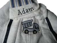 Blue Dump Truck Hooded Towel