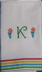 Flower Pot Hostess Towel