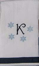 Blue Snowflake Hostess Towel