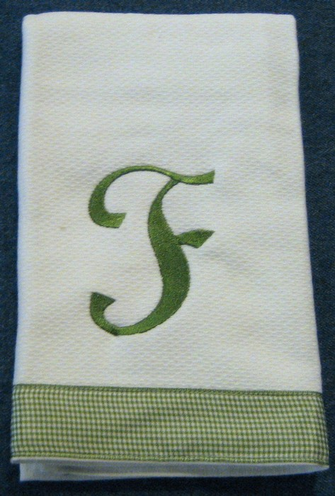 Sage Green Gingham Hostess Towel