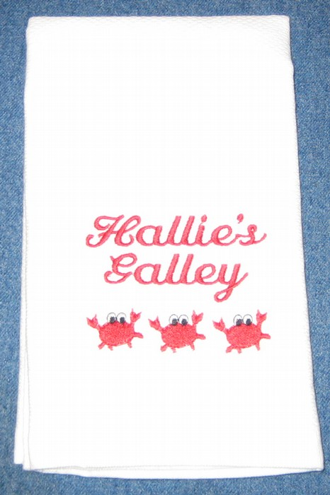 Little Red Crabs Hostess Towel