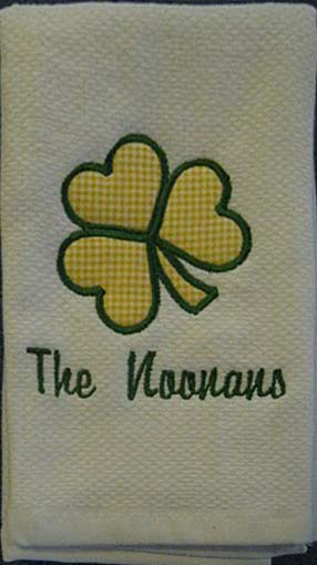 Shamrock Hostess Towel