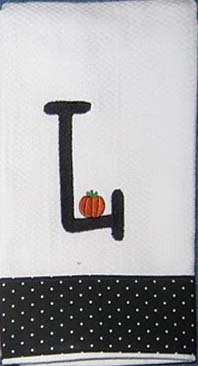 Little Pumpkin Halloween Hostess Towel