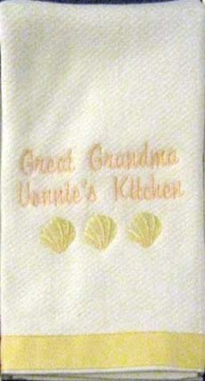 Sea Shell Hostess Towel