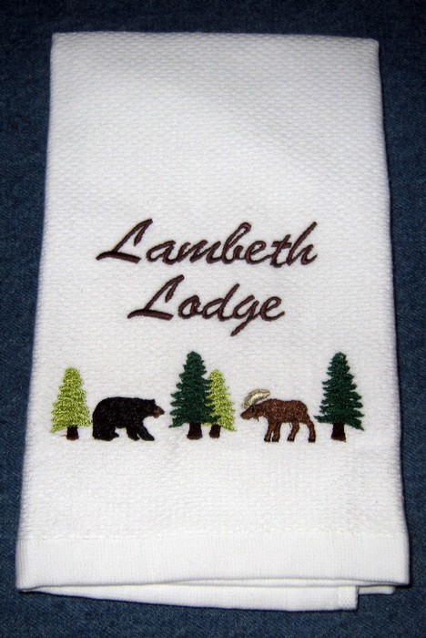 Woodsy Lodge Hostess Towel