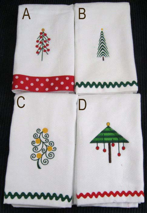 Christmas Tree Hostess Towel 1