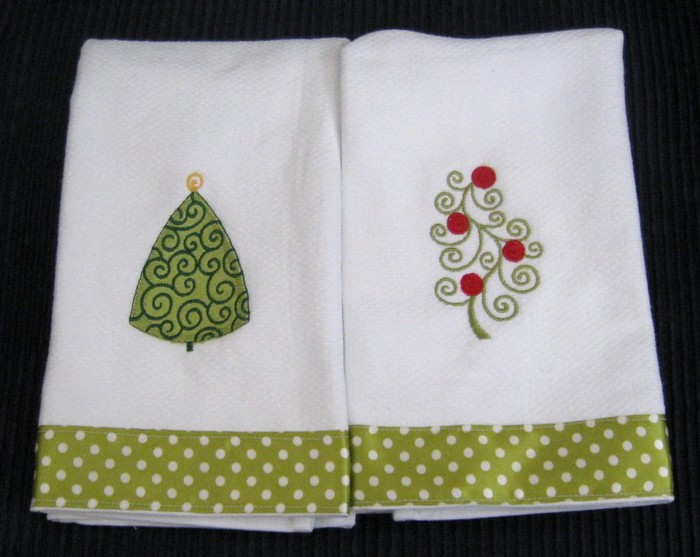 Christmas Tree Hostess Towel 2