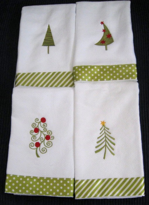 Christmas Tree Hostess Towel 4