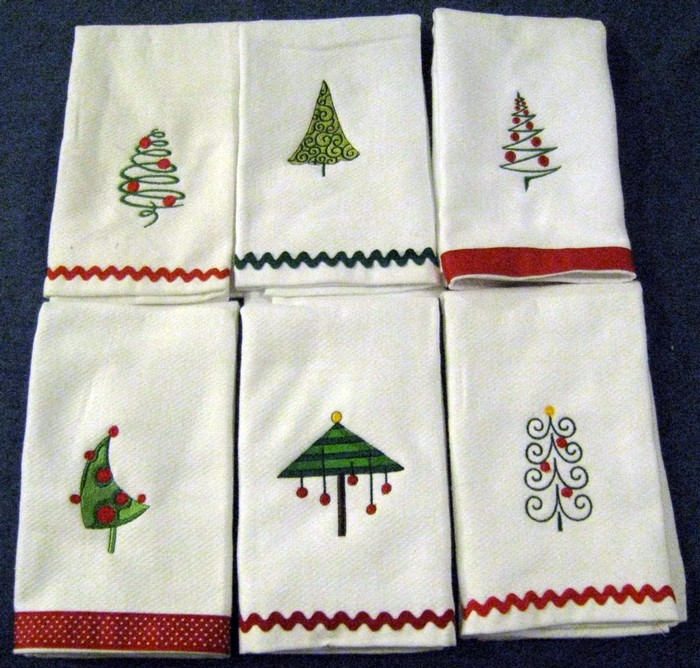 Christmas Tree Hostess Towel 5
