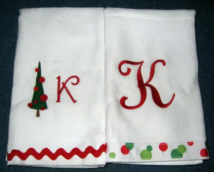 Christmas Tree Hostess Towel 6