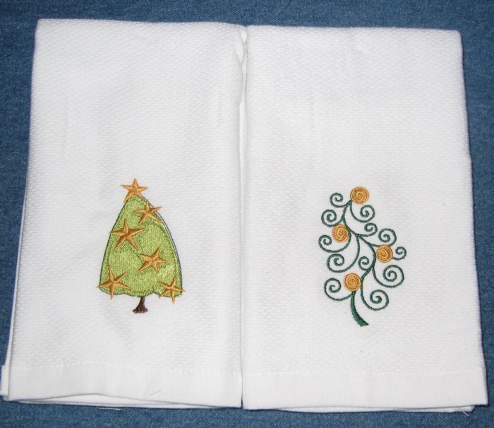 Christmas Tree Hostess Towel 7